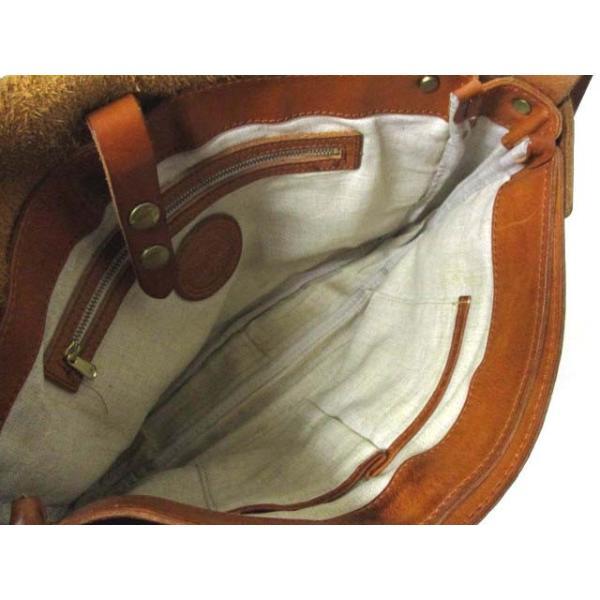 スロウ SLOW レザー メッセンジャーバッグ ショルダーバッグ ブラウン 茶 バック 鞄 190225OK01B メンズ【中古】【ベクトル 古着】