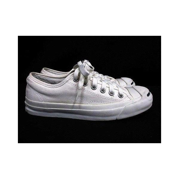 【中古】コンバース CONVERSE ジャックパーセル ローカット スニーカー ワンポイント キャンバス ホワイト 白 23.0 シューズ 靴 レディース|vectorpremium|04