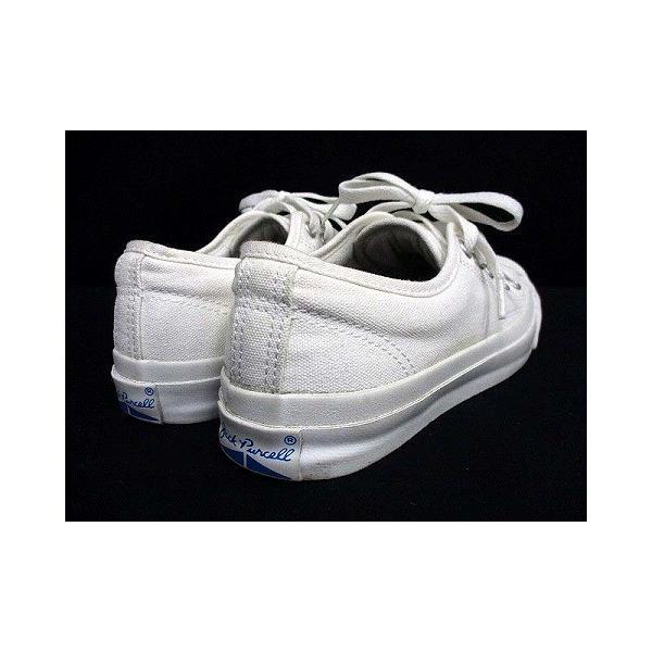 【中古】コンバース CONVERSE ジャックパーセル ローカット スニーカー ワンポイント キャンバス ホワイト 白 23.0 シューズ 靴 レディース|vectorpremium|05