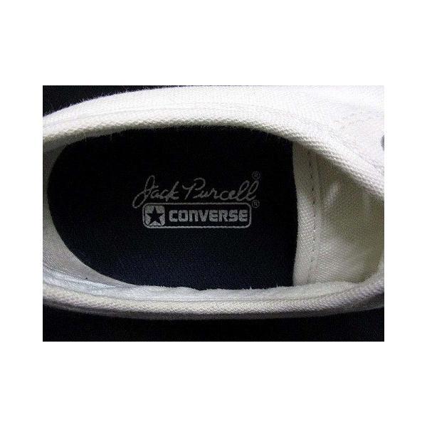 【中古】コンバース CONVERSE ジャックパーセル ローカット スニーカー ワンポイント キャンバス ホワイト 白 23.0 シューズ 靴 レディース|vectorpremium|06
