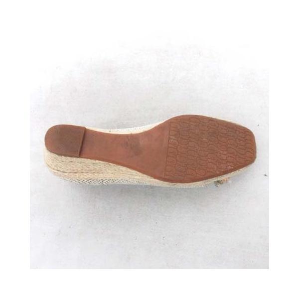 ダイアナ DIANA パンプス オープントゥ シューズ 靴 ジュート 編み込み パイソン 型押し ベージュ 22.5cm レディース/*M17 レディース【中古】【ベクトル 古着】