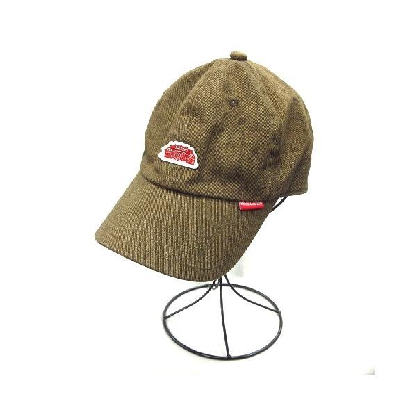 中古 ラウンドハウスroundhouseキャップストラップバック帽子6パネル茶ブラウンレディース ベクトル古着