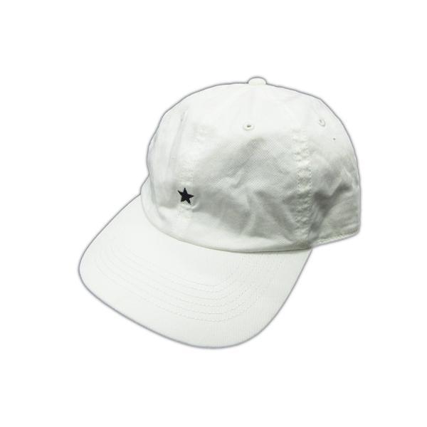 中古 コンバースCONVERSEスター刺繍キャップストラップバックストレッチコットン帽子白ホワイトメンズ ベクトル古着