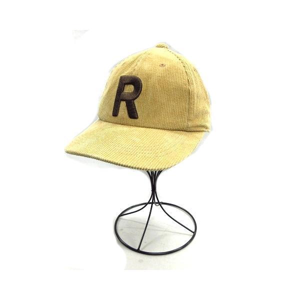 中古 グローバルワークGLOBALWORKRロゴ刺繍コーデュロイスナップバックキャップ帽子茶ベージュレディース▼▼12 ベクト