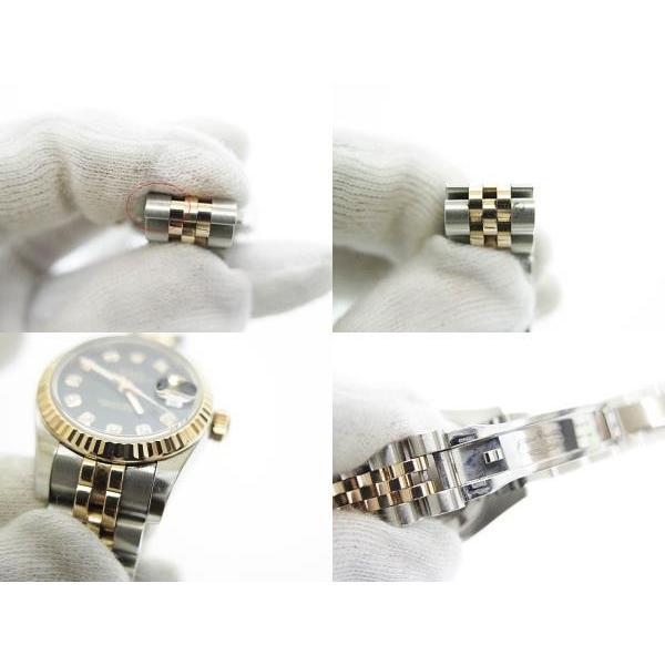 【中古】ロレックス ROLEX DATE JUST OYSTER PERPETUAL デイトジャスト 10Pダイヤ コンビ PG SS 自動巻き 腕時計 179171中古■190705 6000 レディース|vectorpremium|05
