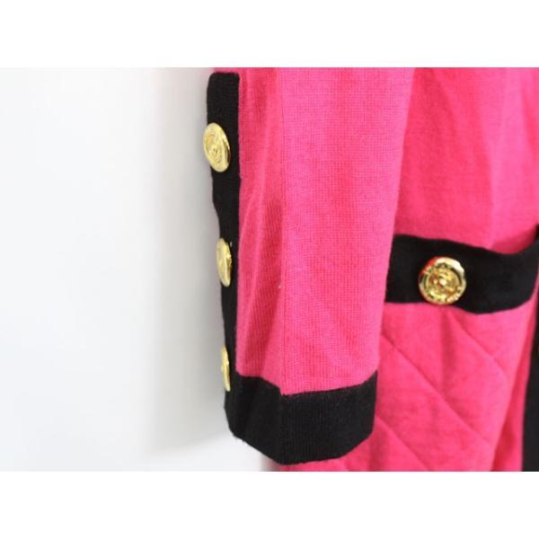 ビッキー VICKY カーディガン 羽織 バイカラー 肩パット ウール 長袖 9 ピンク /YT13 レディース【中古】【ベクトル 古着】|vectorpremium|05