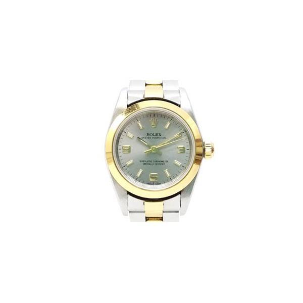 【中古】ロレックス ROLEX オイスターパーペチュアル K番 76183 イエローゴールド ステンレス コンビ 腕時計 /Z レディース 【ベクトル 古着】 vectorpremium