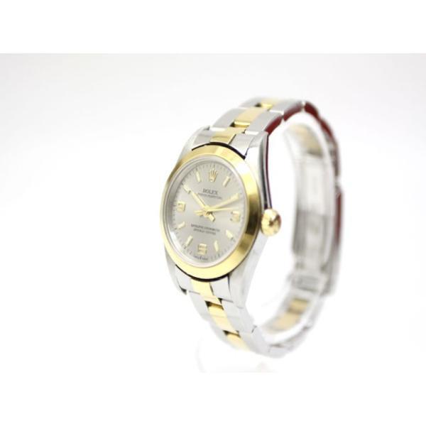 【中古】ロレックス ROLEX オイスターパーペチュアル K番 76183 イエローゴールド ステンレス コンビ 腕時計 /Z レディース 【ベクトル 古着】 vectorpremium 02
