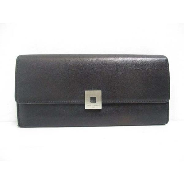 28f22e22ff08 コムサデモード COMME CA DU MODE sacs レザー 長財布 二つ折り 黒 ブラック L字ファスナー