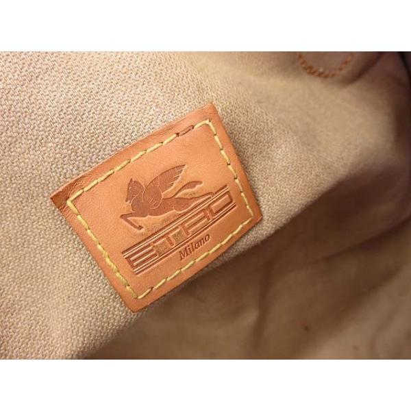 エトロ ETRO バッグ ボストンバッグ 旅行 ペイズリー PVC レザー ブラウン 茶 かばん 鞄 カバン メンズ/レディース/ユニセックス 【中古