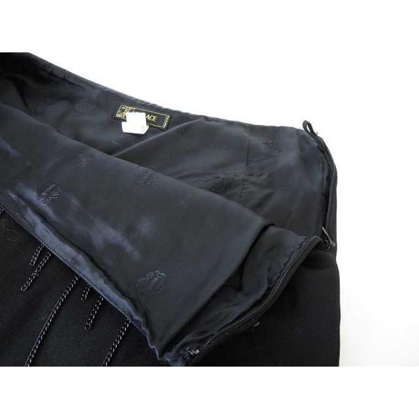 【中古】ヴェルサーチ ヴェルサーチェ VERSACE スカート タイト ミニ チェーン ウール 40 M 黒 ブラック レディース 【ベクトル 古着】|vectorpremium|05
