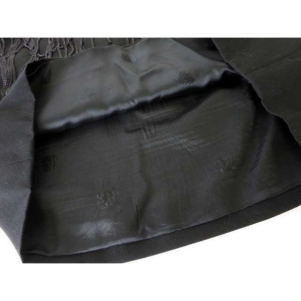 【中古】ヴェルサーチ ヴェルサーチェ VERSACE スカート タイト ミニ チェーン ウール 40 M 黒 ブラック レディース 【ベクトル 古着】|vectorpremium|06