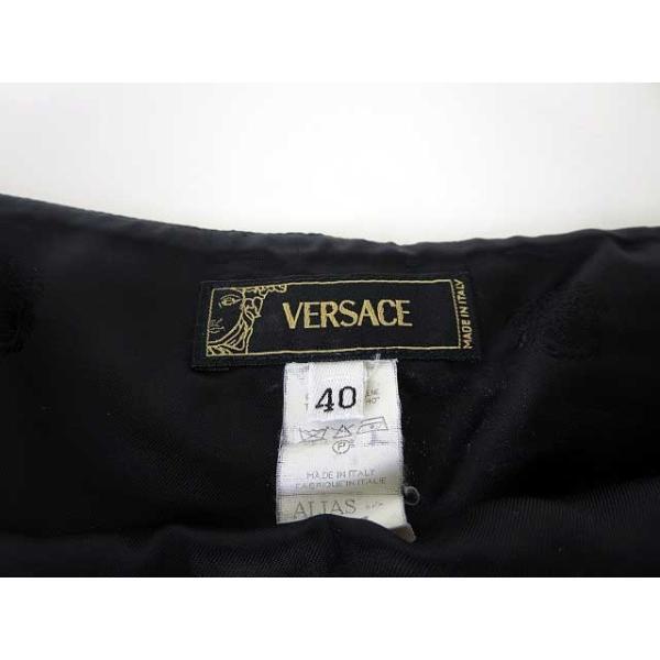 【中古】ヴェルサーチ ヴェルサーチェ VERSACE スカート タイト ミニ チェーン ウール 40 M 黒 ブラック レディース 【ベクトル 古着】|vectorpremium|07