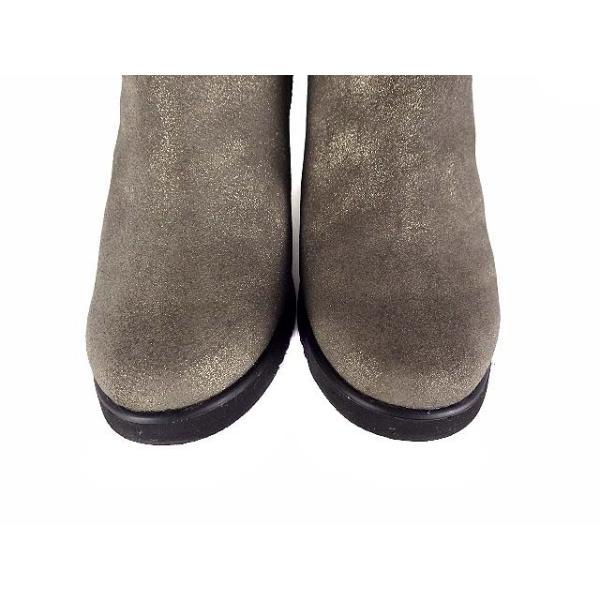 エンチャンテッド enchanted インヒール ムートンブーツ ショートブーツ 靴 ガンメタ 35 レディース【ベクトル 】