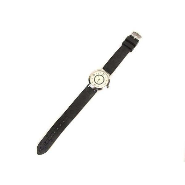 ルイヴィトン LOUIS VUITTON タンブールスリム モノグラムPM 腕時計 クォーツ ウォッチ 8Pダイヤ ラバーベルト Q12MG シルバー 黒【中古】【ベクトル 古着】|vectorpremium|02