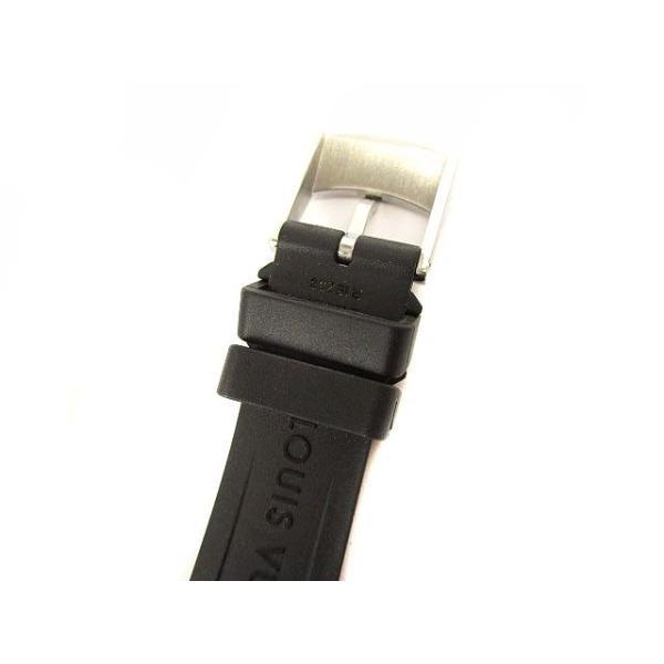 ルイヴィトン LOUIS VUITTON タンブールスリム モノグラムPM 腕時計 クォーツ ウォッチ 8Pダイヤ ラバーベルト Q12MG シルバー 黒【中古】【ベクトル 古着】|vectorpremium|08