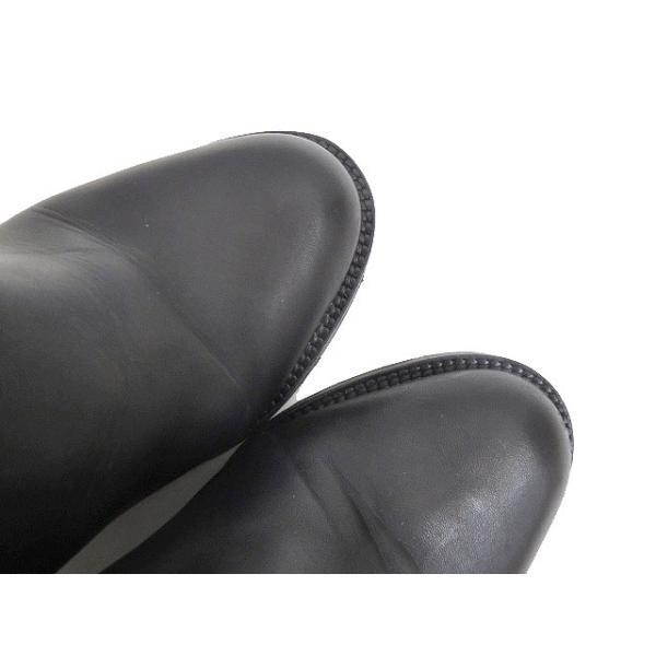 アクネ Acne サイドゴアブーツ ショートブーツ ヒール イタリア製 レザー 38 24cm 黒 ブラック C85155 レディース【ベクトル 】