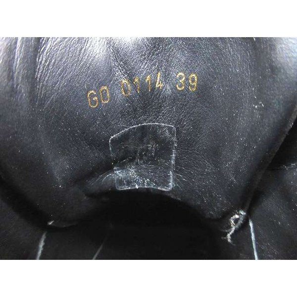 未使用品 ルイヴィトン LOUIS VUITTON スニーカー ハイカット インヒール モノグラム レザー ヌバック スエ GO 0114 39 24.5cm 黒 T05351 レディース【中古】
