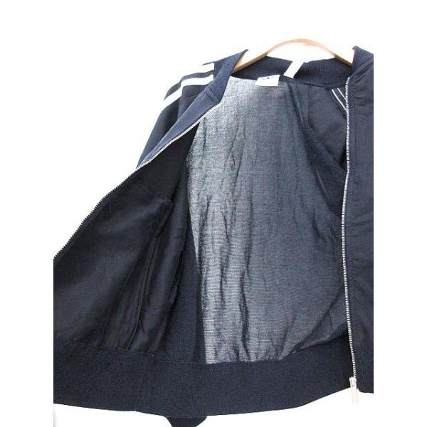アディダスオリジナルス adidas originals トラックジャケット スーパースター ライン ジャージ T ネイビー /☆G レディース【中古】【ベクトル 古着】|vectorpremium|04