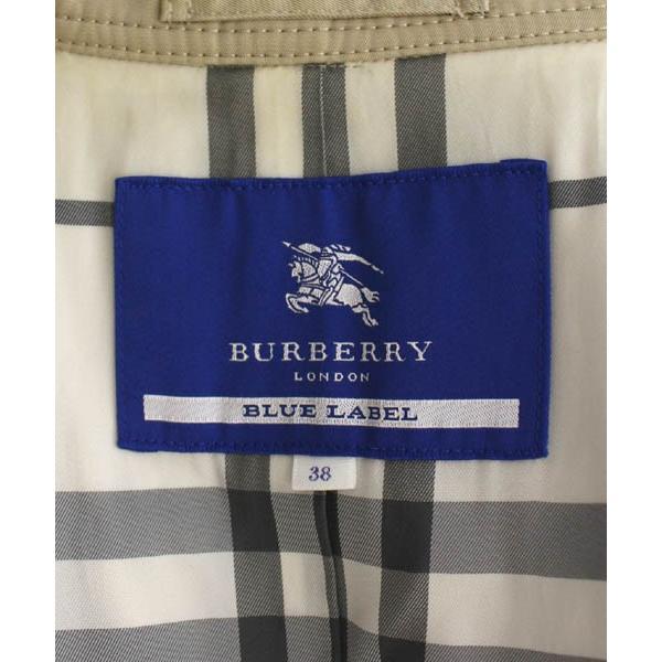 バーバリーブルーレーベル BURBERRY BLUE LABEL スプリングコート トレンチ ダブル 38 ベージュ /NT16 レディース【中古】【 vectorpremium 04