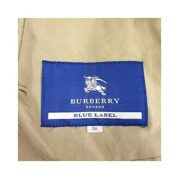 バーバリーブルーレーベル BURBERRY BLUE LABEL トレンチコート コーデュロイ 38 ダークグレー /OG6 レディース 【中古】【ベ|vectorpremium|06