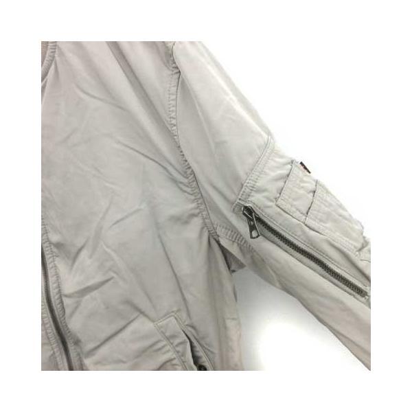 【中古】アルファ ALPHA INDUSTRIES ジャケット ブルゾン MA-1 M グレージュ /YM メンズ 【ベクトル 古着】|vectorpremium|05