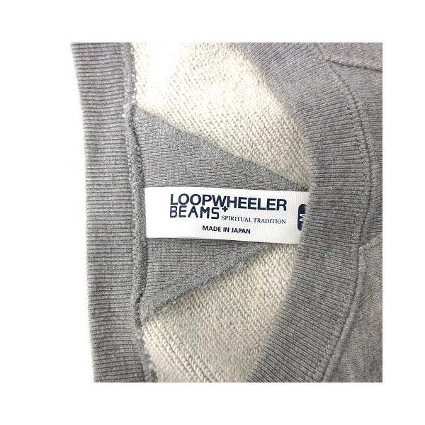 ループウィラー LOOPWHEELER ビームスプラス BEAMS+ スウェット トレーナー 長袖 M グレー /KH メンズ 【中古】【ベクトル 古着】|vectorpremium|03
