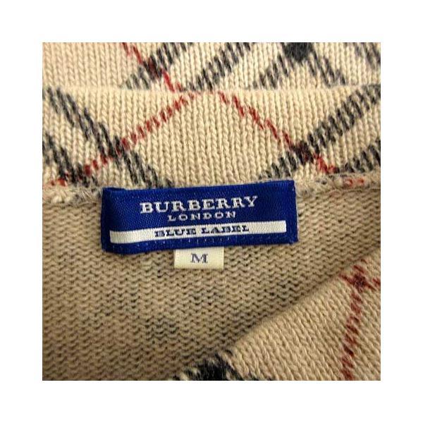 【中古】バーバリーブルーレーベル BURBERRY BLUE LABEL セーター ニット チェック 長袖 M ベージュ 黒 /YM レディース 【ベクトル 古着】|vectorpremium|05