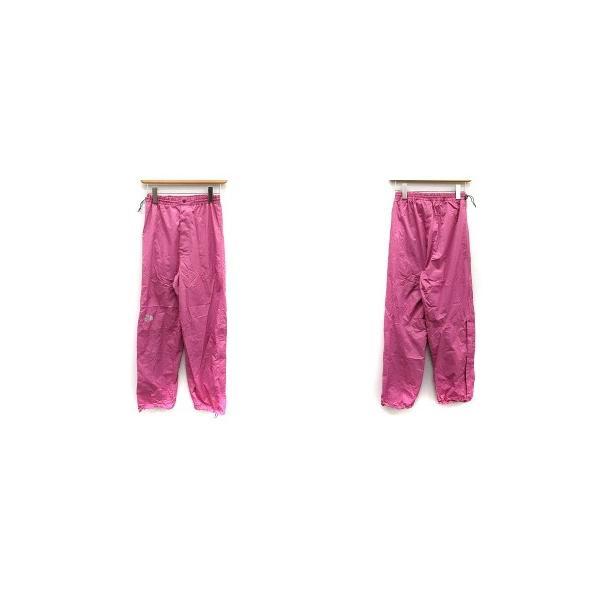 【中古】ザノースフェイス ハイベントレインテックス セットアップ 上下 レインスーツ ウェア ジャケット パンツ M ピンク チャコールグレー|vectorpremium|03