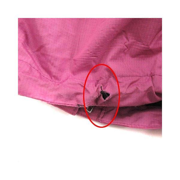 【中古】ザノースフェイス ハイベントレインテックス セットアップ 上下 レインスーツ ウェア ジャケット パンツ M ピンク チャコールグレー|vectorpremium|04