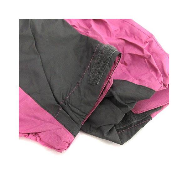【中古】ザノースフェイス ハイベントレインテックス セットアップ 上下 レインスーツ ウェア ジャケット パンツ M ピンク チャコールグレー|vectorpremium|05