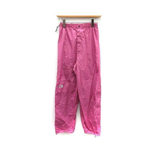 【中古】ザノースフェイス ハイベントレインテックス セットアップ 上下 レインスーツ ウェア ジャケット パンツ M ピンク チャコールグレー|vectorpremium|09