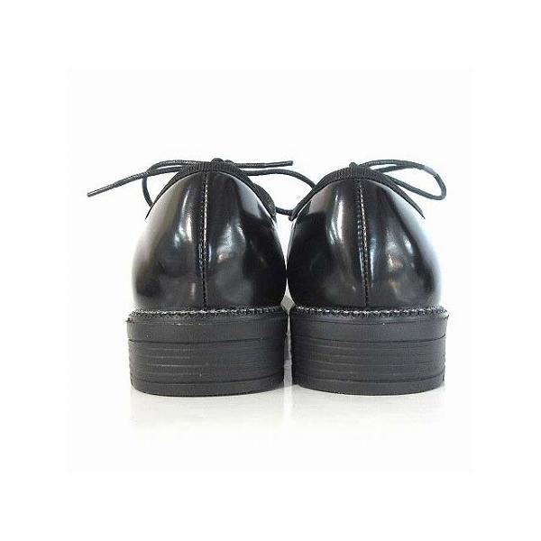 エーエムエス A.M.S シューズ レースアップ エナメル ビジュー 黒 36 靴 レディース【中古】【ベクトル 古着】