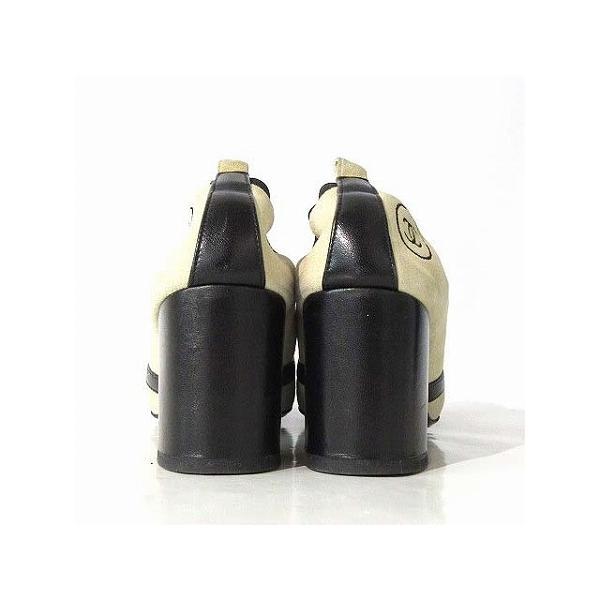 シャネル CHANEL ブーティ シューズ バイカラー スエード 切替 ココマーク 刺繍 ベージュ 黒 35 靴 レディース【中古】【ベクトル 古着】