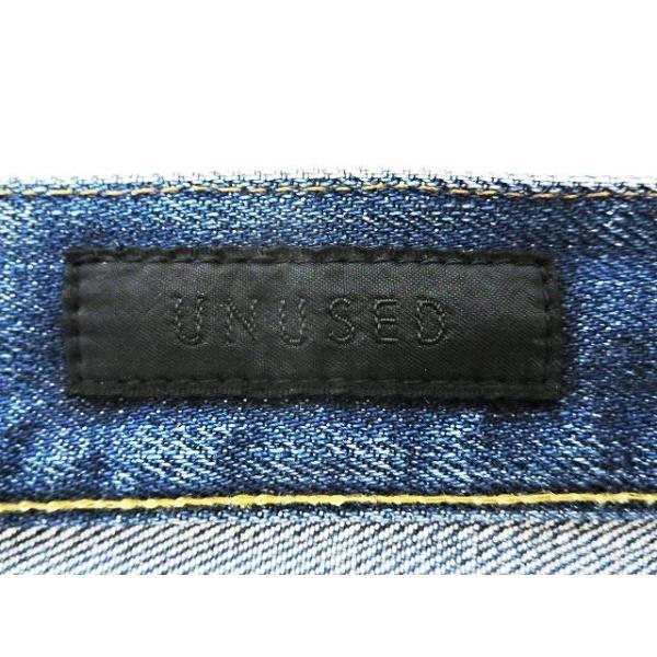 【中古】アンユーズド UNUSED ダメージ加工 デニムパンツ 3 インディゴブルー 綿100% 日本製 赤耳 セルビッチ ボトムス ジーンズ  メンズ【ベクトル 古着】|vectorpremium|03