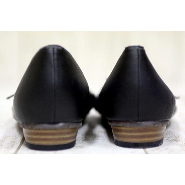 セオリア THEORIA パンプス 靴 フラットシューズ ストラップ ギャザー M 黒 /TC レディース 【ベクトル 古着】【中古】