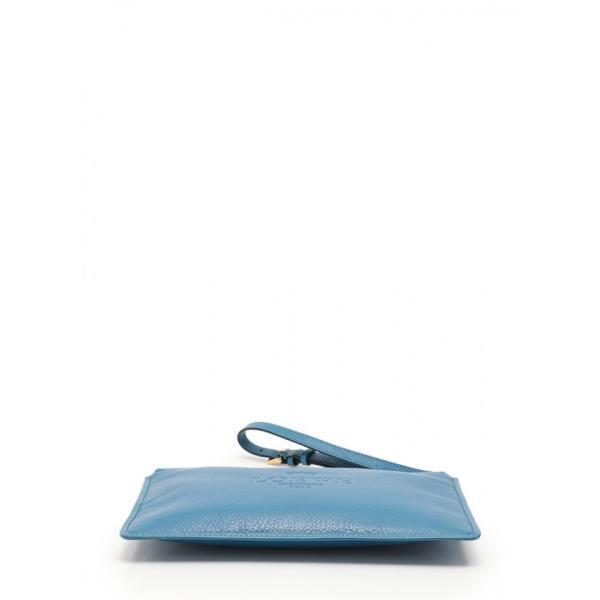 ロエベ LOEWE ポーチ リストレット ヘリテージ 青 小物 レザー レディース【中古】【ベクトル 古着】