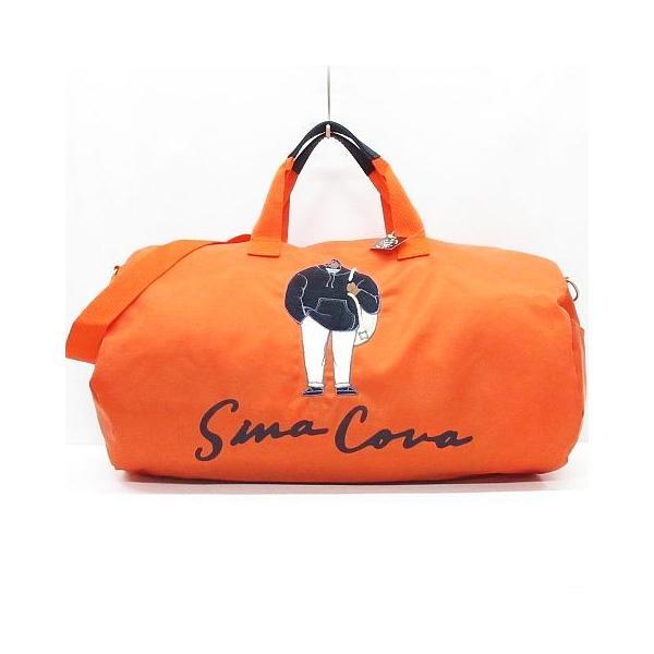シナコバ SINA COVA 美品 ボストンバッグ ドラムバッグ ショルダー ナイロン 鞄 オレンジ ◇08 レディース 【中古】【ベクトル 古着】|vectorpremium
