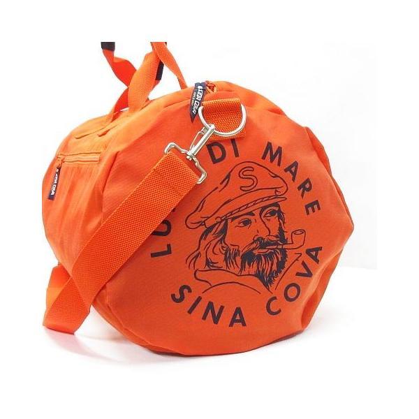 シナコバ SINA COVA 美品 ボストンバッグ ドラムバッグ ショルダー ナイロン 鞄 オレンジ ◇08 レディース 【中古】【ベクトル 古着】|vectorpremium|04