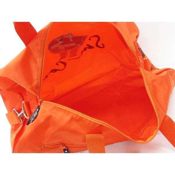シナコバ SINA COVA 美品 ボストンバッグ ドラムバッグ ショルダー ナイロン 鞄 オレンジ ◇08 レディース 【中古】【ベクトル 古着】|vectorpremium|05