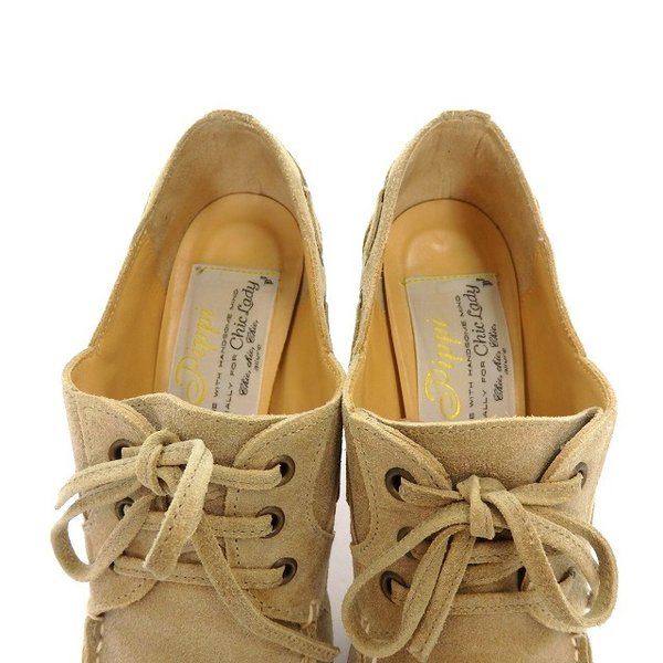 ピッピ Pippi スエード ブーティ ブーツ シューズ 靴 35.5 ベージュ 薄茶 SSAW レディース【中古】【ベクトル 古着】
