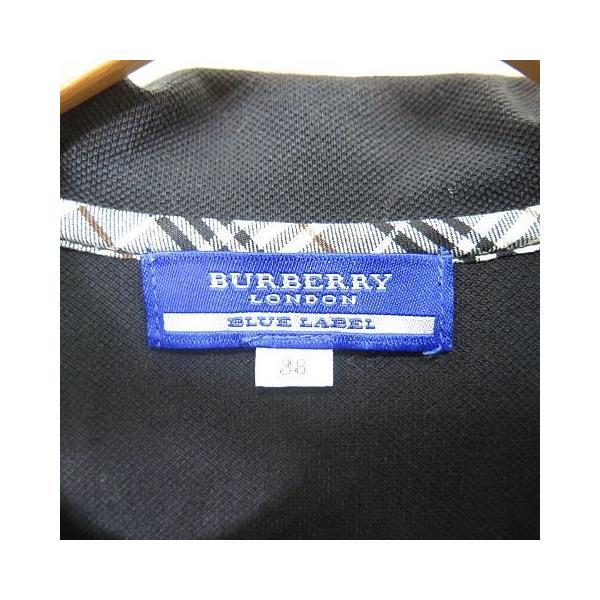 【中古】バーバリーブルーレーベル BURBERRY BLUE LABEL 鹿の子 ポロシャツ パフスリーブ リボン 38 ブラック sa7582 レディース 【ベクトル 古着】|vectorpremium|03
