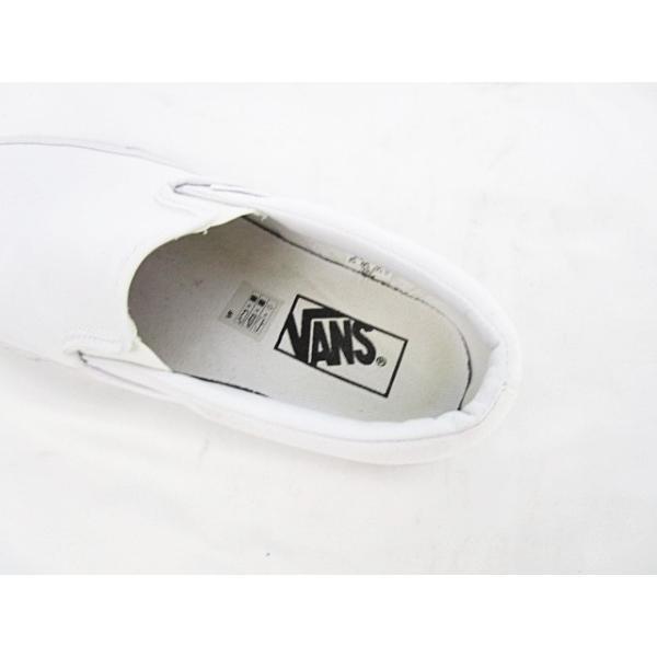 バンズ VANS スニーカー スリッポン キャンバス 24 白 ホワイト メンズ【中古】【ベクトル 古着】