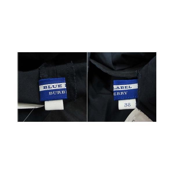 バーバリーブルーレーベル BURBERRY BLUE LABEL ワンピース フレア ギャザー ひざ丈 切替 リブ 半袖 38 紺 /YI43 ■SM|vectorpremium|06