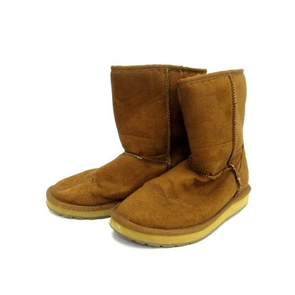 バンズ VANS ブーツ フェイクムートン ミドル丈 6 茶 /DH47 ● レディース【ベクトル 】