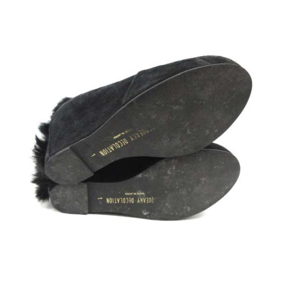アンスクウィーキー UNSQUEAKY DECOLATION ブーツ ショート ウェッジソール スエード 1 黒 /DJ ■CA7 レディース【ベクトル 】