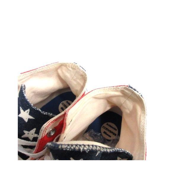 コンバース CONVERSE ALL STAR スニーカー シューズ 国旗 アメリカ キャンバス 8.5 ベージュ 赤 /MR ■CA直1 メンズ【中|vectorpremium|05