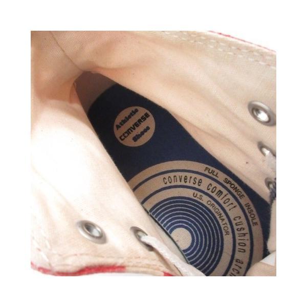 コンバース CONVERSE ALL STAR スニーカー シューズ 国旗 アメリカ キャンバス 8.5 ベージュ 赤 /MR ■CA直1 メンズ【中|vectorpremium|07