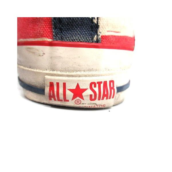 コンバース CONVERSE ALL STAR スニーカー シューズ 国旗 アメリカ キャンバス 8.5 ベージュ 赤 /MR ■CA直1 メンズ【中|vectorpremium|08