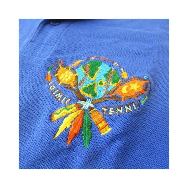 【中古】カステルバジャック CASTELBAJAC sport テニスウェア ポロシャツ 鹿の子 刺繍 半袖 リブ ブルー 青 2 【ベクトル 古着】|vectorpremium|04